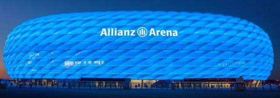 Allianz Arena Night View with White Light